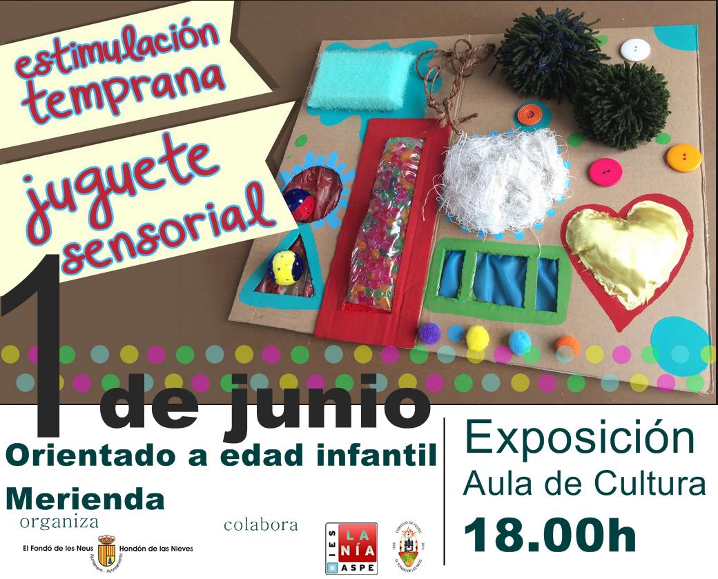 Cartel exposición juguete sensorial