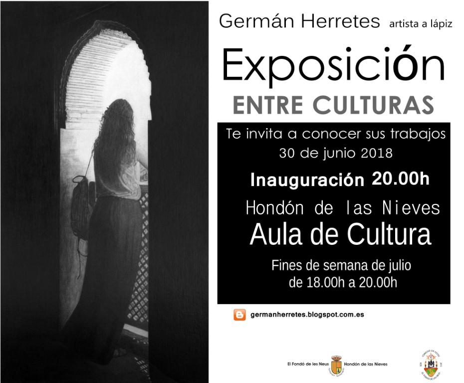 Cartel exposición Entre Culturas