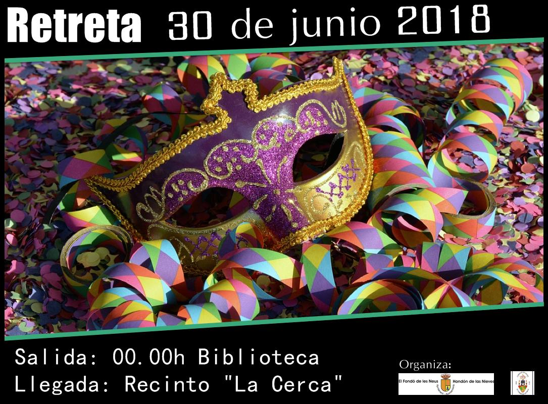 Imagen cartel retreta 2018