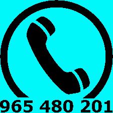 Teléfono de atención al ciudadano: 965 480 201