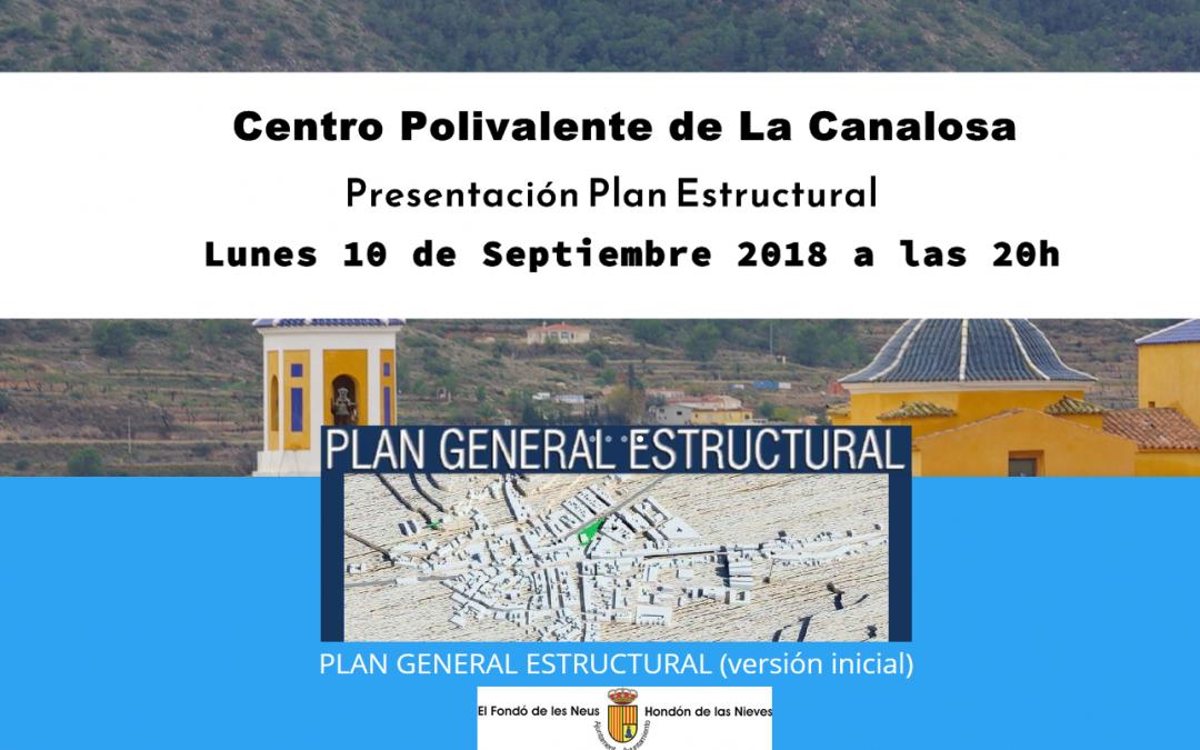 Presentación Plan General La Canalosa 10/09 20H