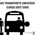 AYUDAS TRANSPORTE UNIVERSITARIO CURSO 2017/2018