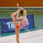 La gimnasta hondonense Marta Egea Calero disputa la Final del Cpto. De España de Gimnasia Rítmica en Conjuntos en Pamplona