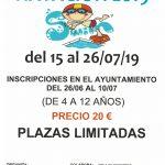 Cartel natacion 2019