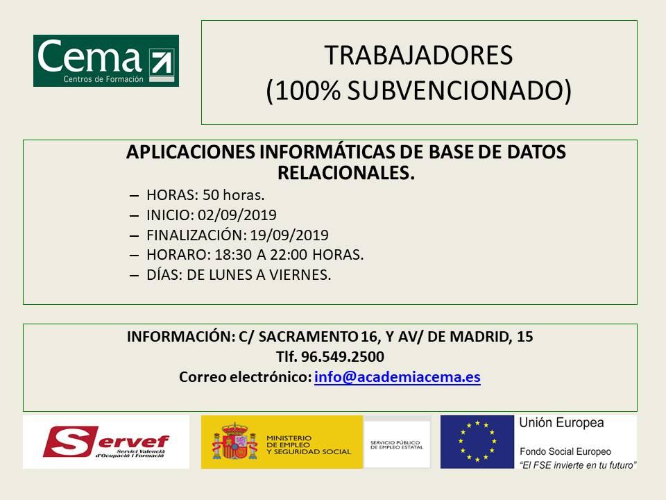 Cartel curso CEMA 2019