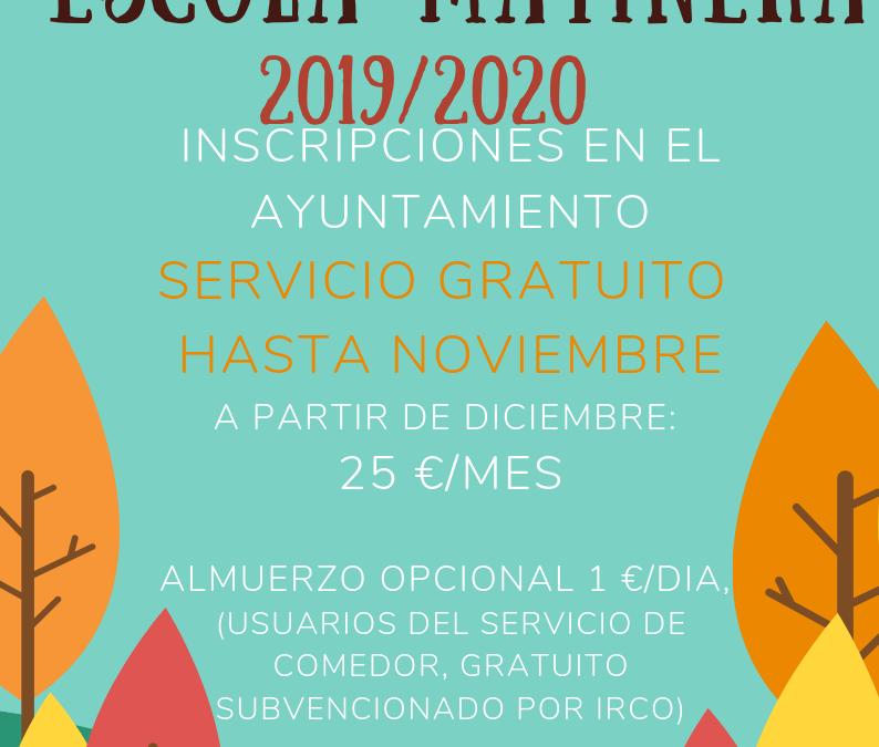 Escola Matinera 2019/2020