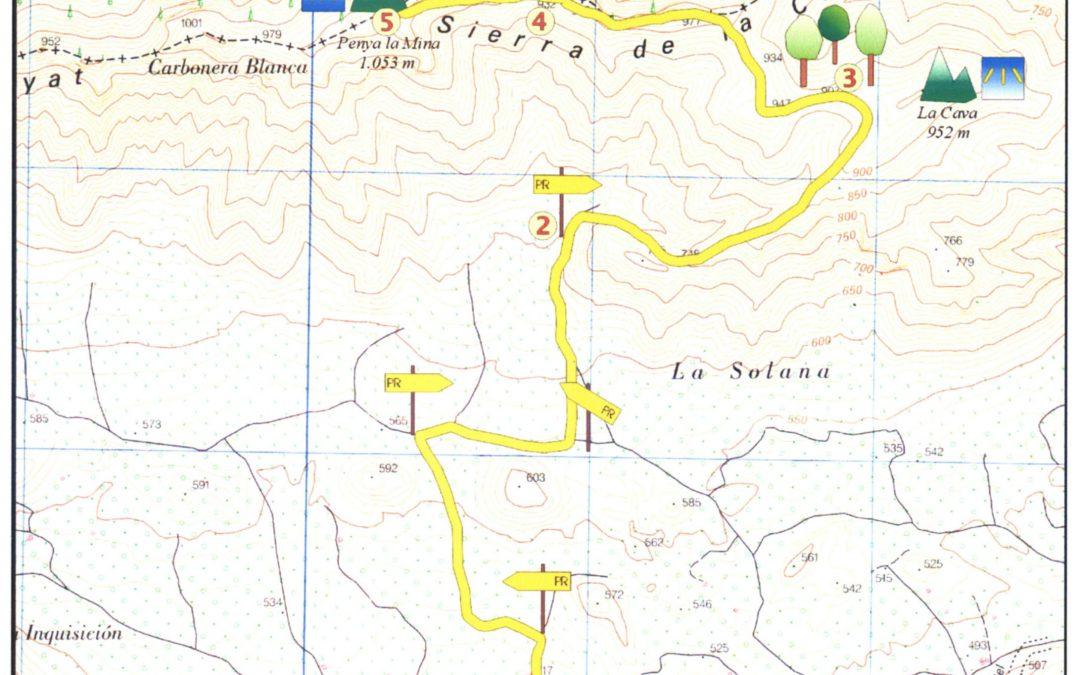 Ruta Peña La Mina PR-CV 281