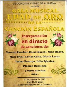 """Cartel gala """"Edad de oro de la canción española"""""""