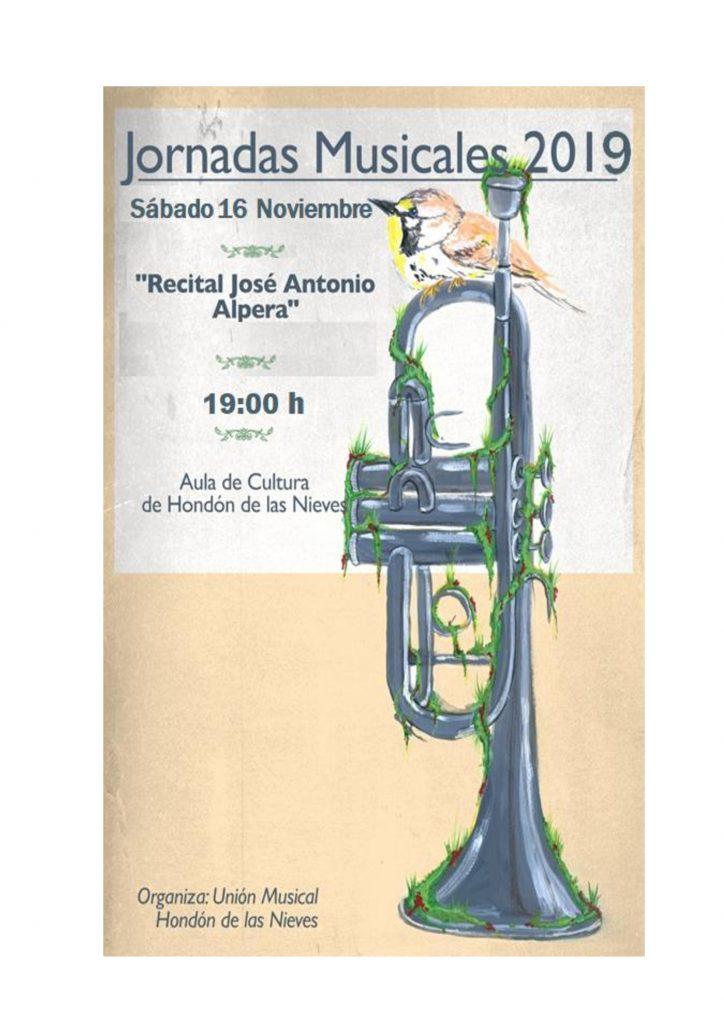 Cartel recital José Antonio Alpera