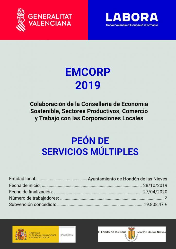Cartel Programa fomento empleo 2019