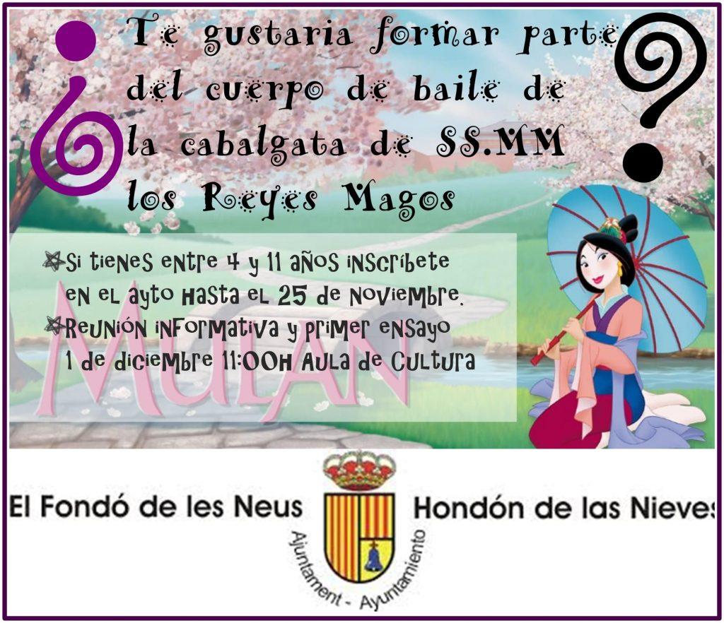Cartel participación Cabalgata de Reyes