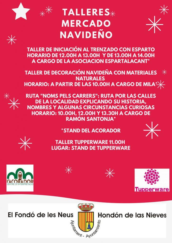 Cartel Talleres Mercado Navideño