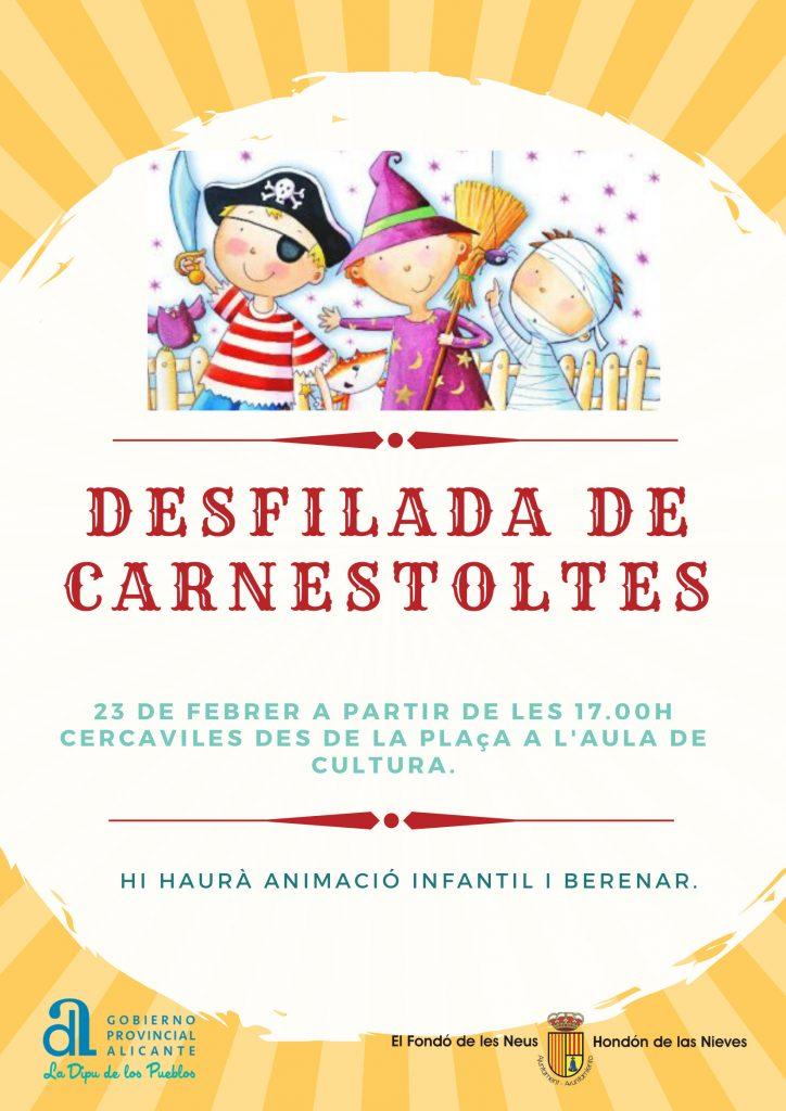 Cartel desfile de carnaval 2020