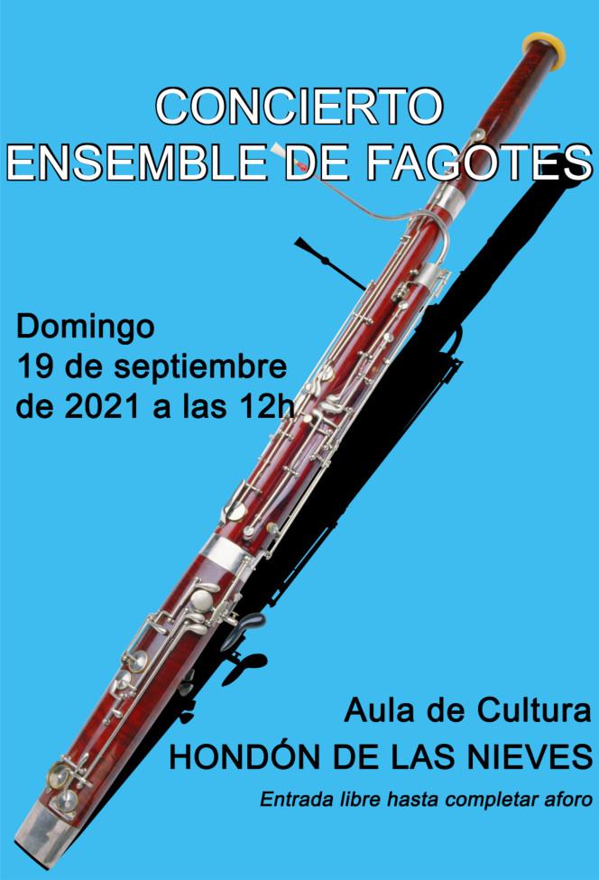 Cartel concierto Ensemble Fagotes 2021